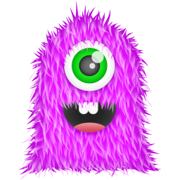 Purple Monster Sticker