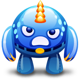 Blue Monster Angry Sticker