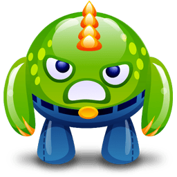 Green Monster Angry Sticker