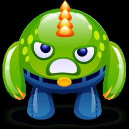 Green Monster Happy Sticker