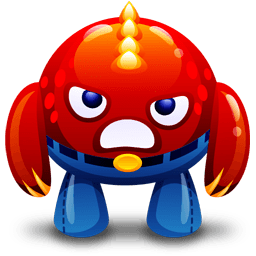 Red Monster Angry Sticker