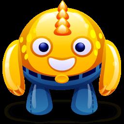 Yellow Monster Sticker