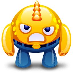 Yellow Monster Angry Sticker