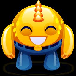 Yellow Monster Happy Sticker