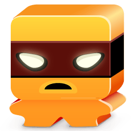 Monster Orange Sticker