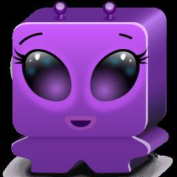 Monster Violet Sticker