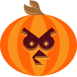 Pumpkin Bird Sticker