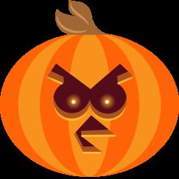 Pumpkin Bird Sticker