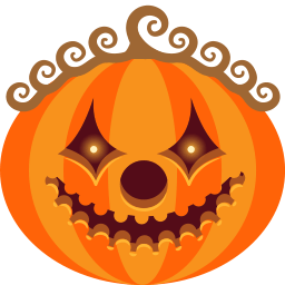 Pumpkin Clown Sticker