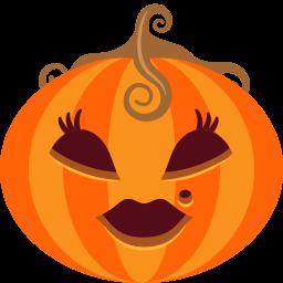 Pumpkin Lady Sticker