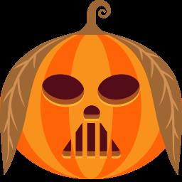 Pumpkin Vader Sticker