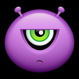 Alien Displeased Sticker