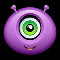 Alien Happy Sticker