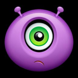 Alien Huffy Sticker