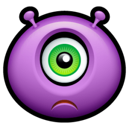 Alien Sad Sticker