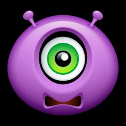 Alien Scared Sticker