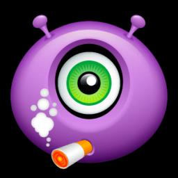 Alien Smoking Sticker