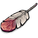 Red White Feather Sticker