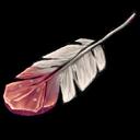 Red White Feather Sticker