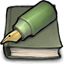 Green Pen And Book Sticker