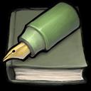 Green Pen And Book Sticker