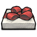 Gift Red Bow Sticker