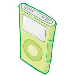 Ipod Green Sticker