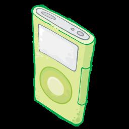 Ipod Green Sticker