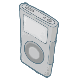 Ipod Grey Sticker