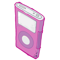 Ipod Pink Sticker