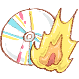 Burn Cd Sticker