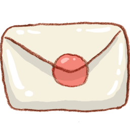 White Mail Envelope Sticker