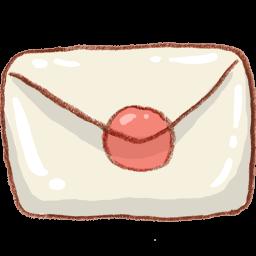White Mail Envelope Sticker