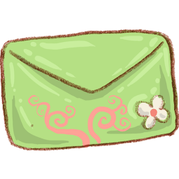 Green Mail Envelope Sticker