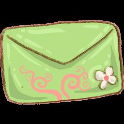 Green Mail Envelope Sticker