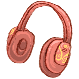 Headphone Music Sticker