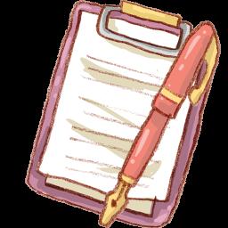 Pen Notepad Sticker