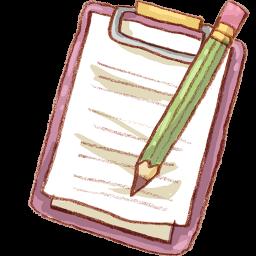 Notepad Pencil Sticker