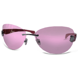 Pink Glasses Sticker