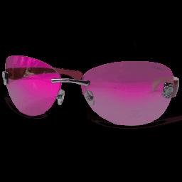 Pink Glasses Sticker