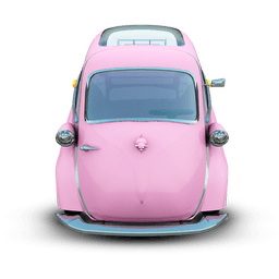 Pink Car Sticker