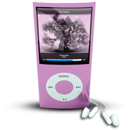 Pink Ipod4rthgen Sticker