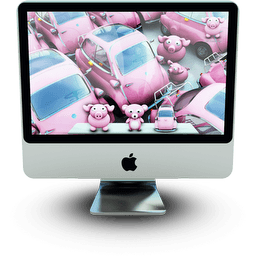 Pinki Mac Sticker
