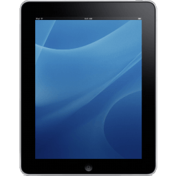 Ipad Front Blue Background Sticker