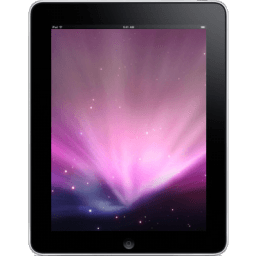 Ipad Front Space Background Sticker