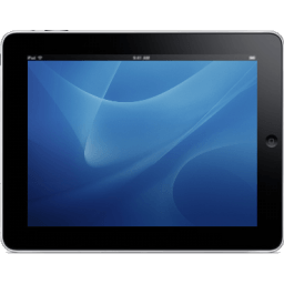 Ipad Landscape Blue Background Sticker