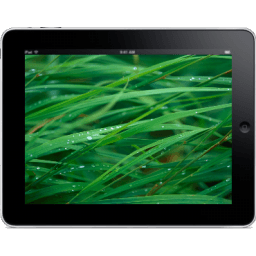 Ipad Landscape Grass Background Sticker