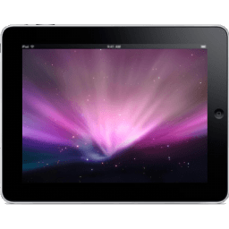 Ipad Landscape Space Background Sticker