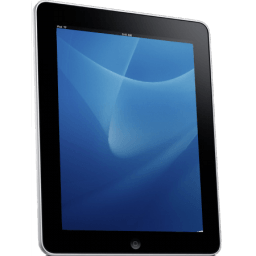 Ipad Side Blue Background Sticker