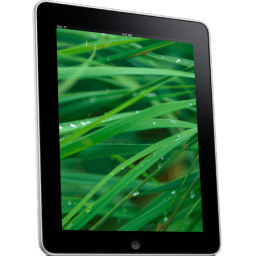 Ipad Side Grass Background Sticker